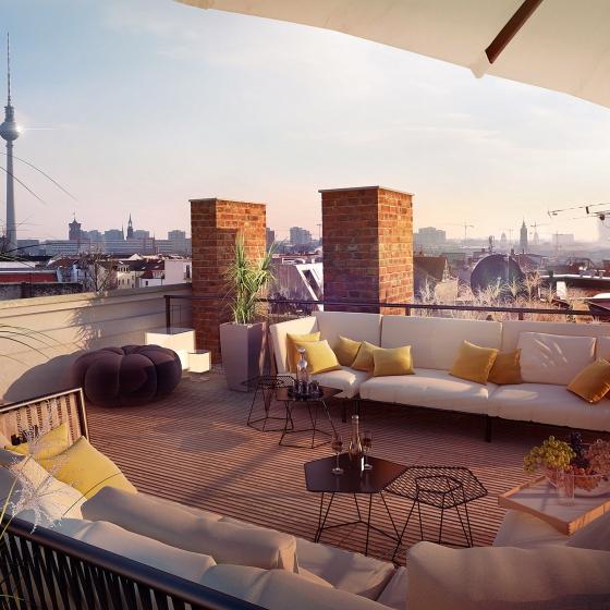 loomilux -Projekt Berlin rooftop bei homify